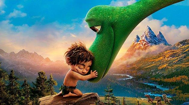 постер мультфильма для семейного просмотра Хороший динозавр