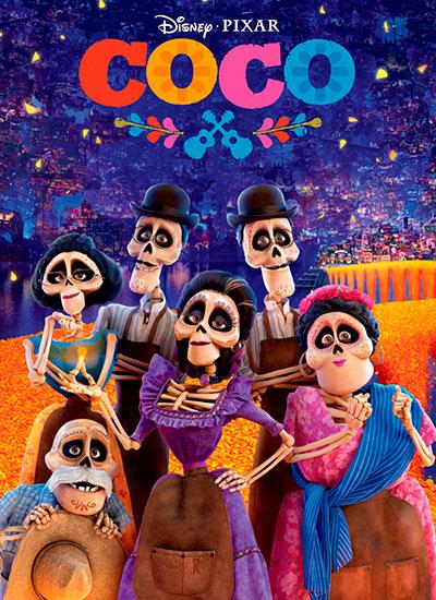 постер мультфильма для семейного просмотра Тайна Коко
