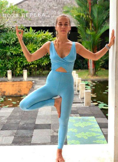 йога для беременных:п оза дерева