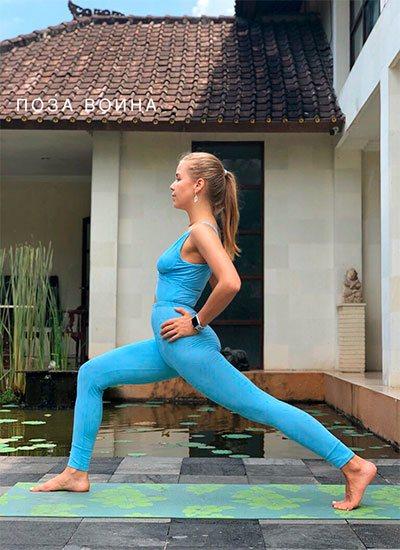йога для беременных: поза воина