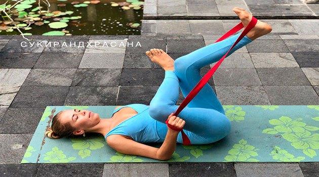 йога для беременных: сукирандхрасана